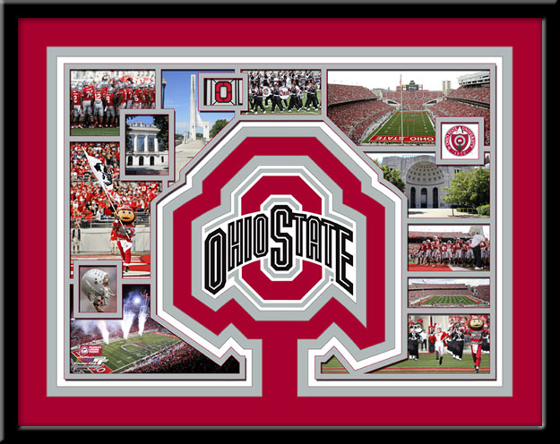Ohio State Buckeyes Memories Collage Framed Picture