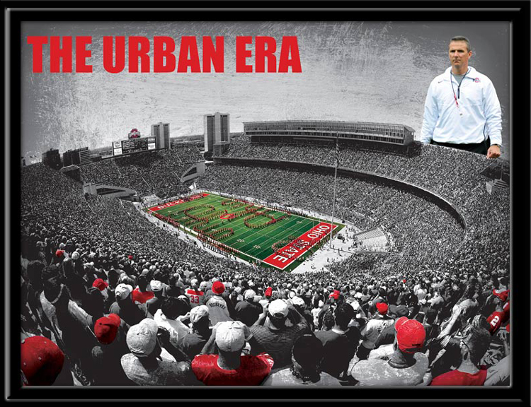 Ohio State The Urban Era Framed Print